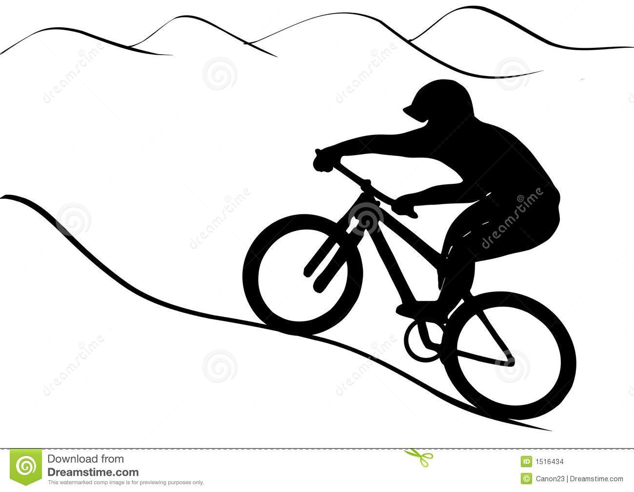 Bike clipart mountain biking Bike clip Bike Art riding