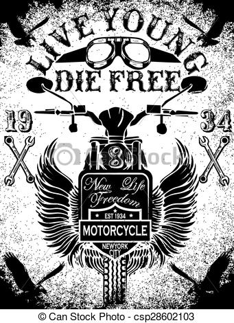 Biker clipart old motorcycle Racing and school and