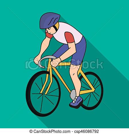 Biker clipart olympics sport Of bike Illustration An athlete
