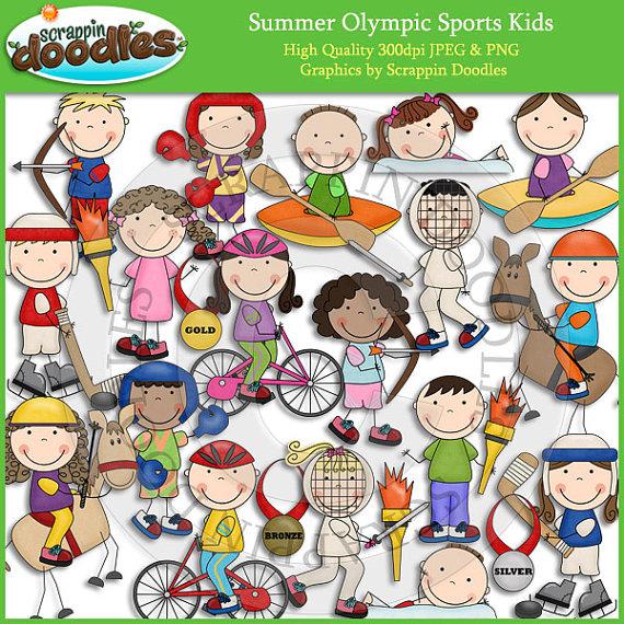 Biker clipart olympics sport Summer Olympic Clip Art Kids