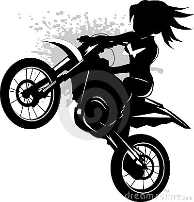 Biker clipart vector Clipart biker  Woman