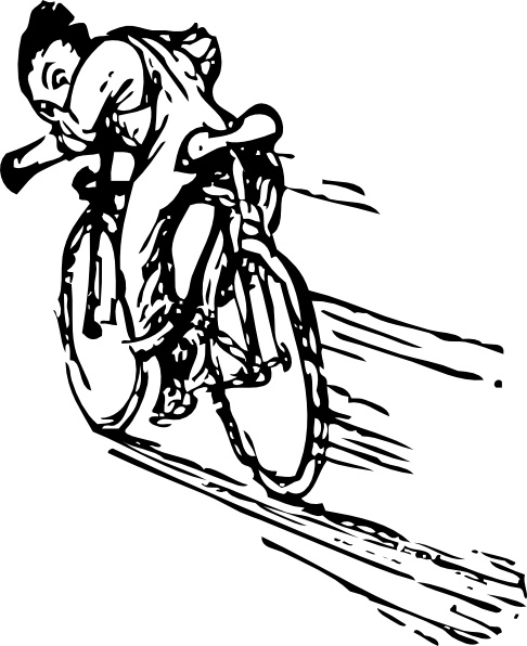 Bicycle clipart line drawing Open office art art vector