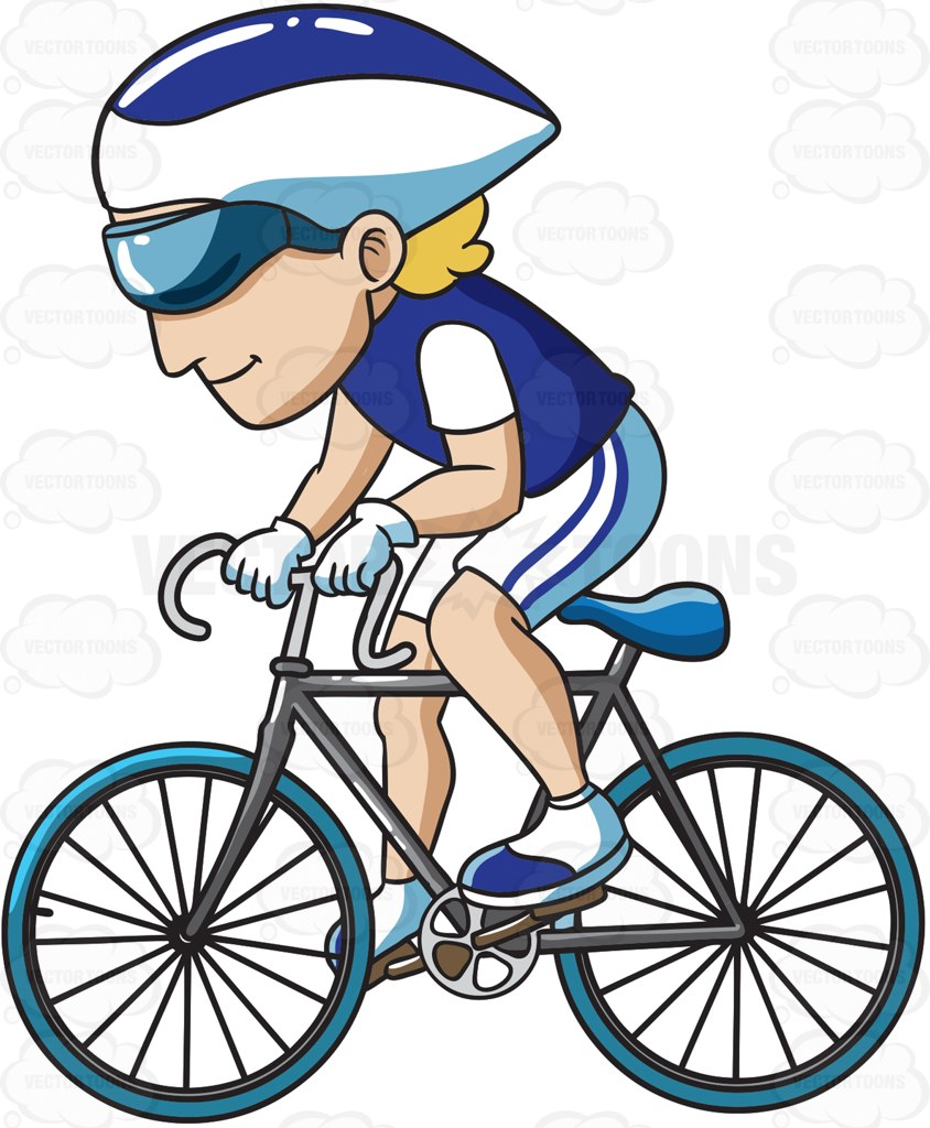Bike clipart his Road Road Enjoying Man Ride