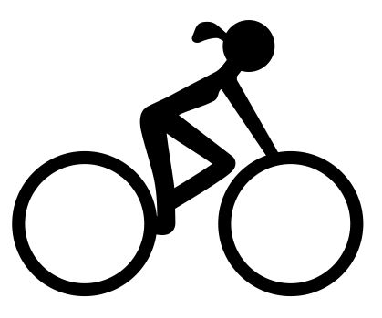 Bike clipart female cyclist 102 icon #bikes bike #cycling