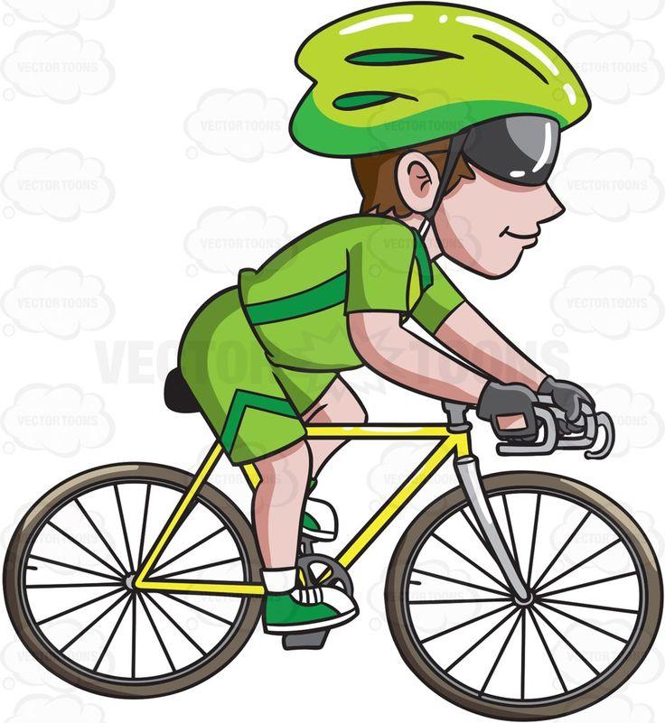 Biker clipart road cycling Man A Clipart Road Cartoon