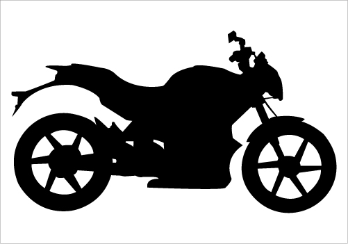 Biker clipart silhouette On on Road Road Vector