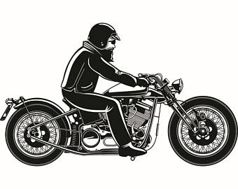 Biker clipart stationary bike Outlaw Retro Biker Motorcycle Vintage