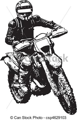 Biker clipart vector Of Vectors biker of silhouette