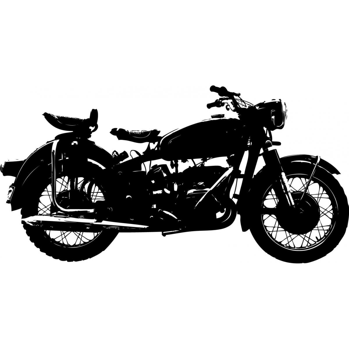 Biker clipart vintage motorcycle Motorbike; Vintage Sticker Motorbike Vintage