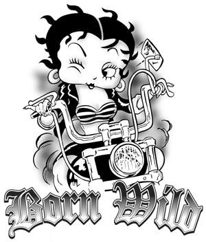 Biker clipart wild Boop Coloring full Pages born