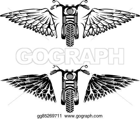 Biker clipart wing Illustration Vector Vector Biker wings