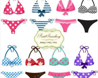 Bikini clipart Etsy Pretty Personal bikinis (P005)