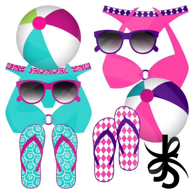 Bikini clipart beach sunglass Is digital a Poolside Digital