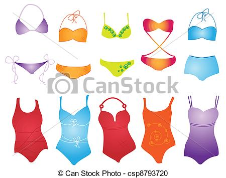 Bikini clipart illustration Swimsuit swimsuit Vector on