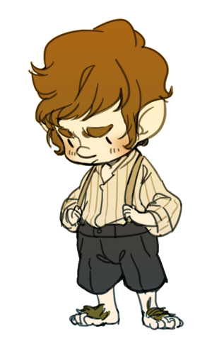 Bilbo Baggins clipart Afraid going Dwarf clipart Clipart