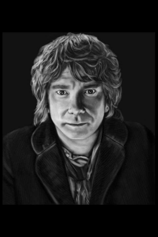 Bilbo Baggins clipart black and white Pinterest White and drawing Artwork