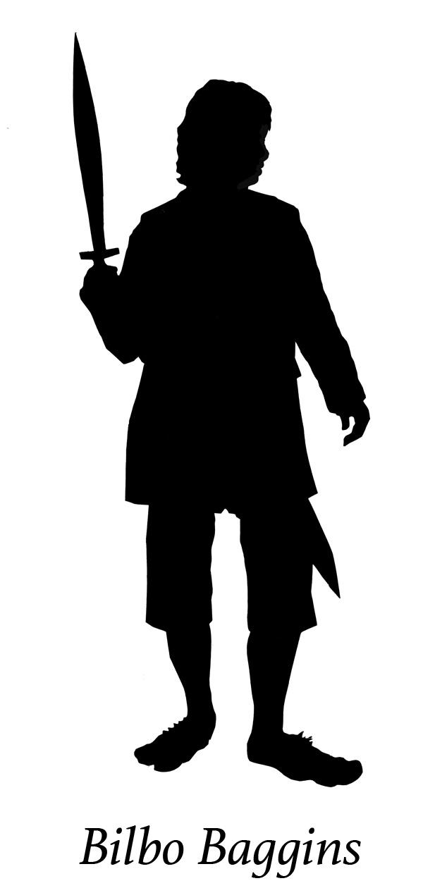 Bilbo Baggins clipart black and white Silhouette Baggins Bilbo baggins