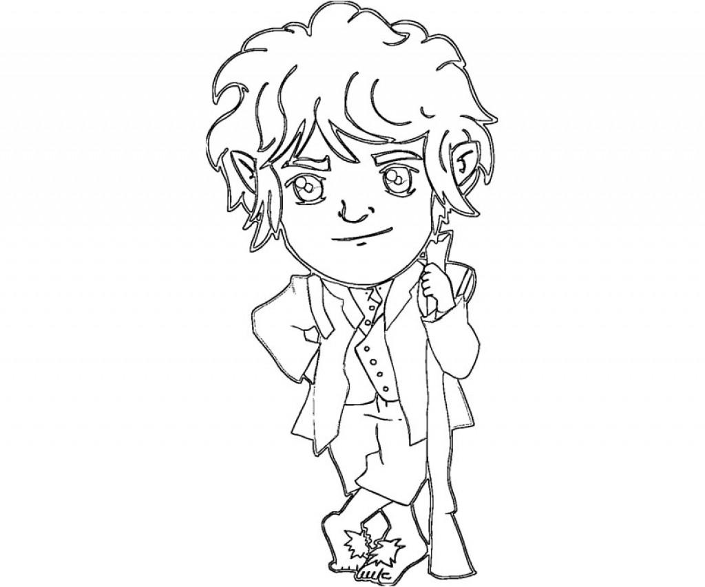 Bilbo Baggins clipart black and white Baggins Bilbo Hobbit Adventurous Coloring