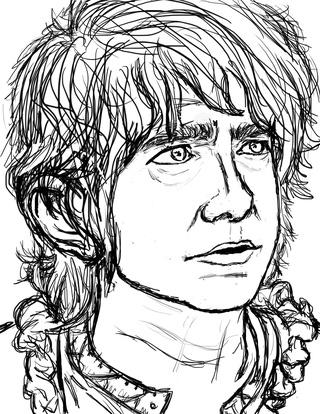 Bilbo Baggins clipart black and white Of #sketch :) #bilbobaggins on