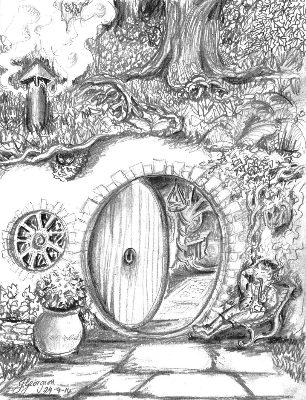 Bilbo Baggins clipart black and white End Baggins on Bilbo DeviantArt