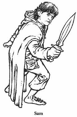 Bilbo Baggins clipart black and white Coloring Hobbit Pages on Pinterest