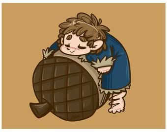 Bilbo Baggins clipart chibi Bilbo Oakenshield print Billbo Fanart