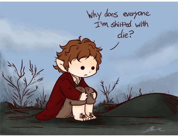 Bilbo Baggins clipart chibi Hobbit Hobbit print matte Bilbo