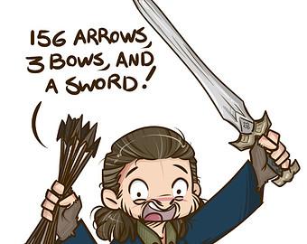 Bilbo Baggins clipart chibi Thorin Fanart and Chibi and