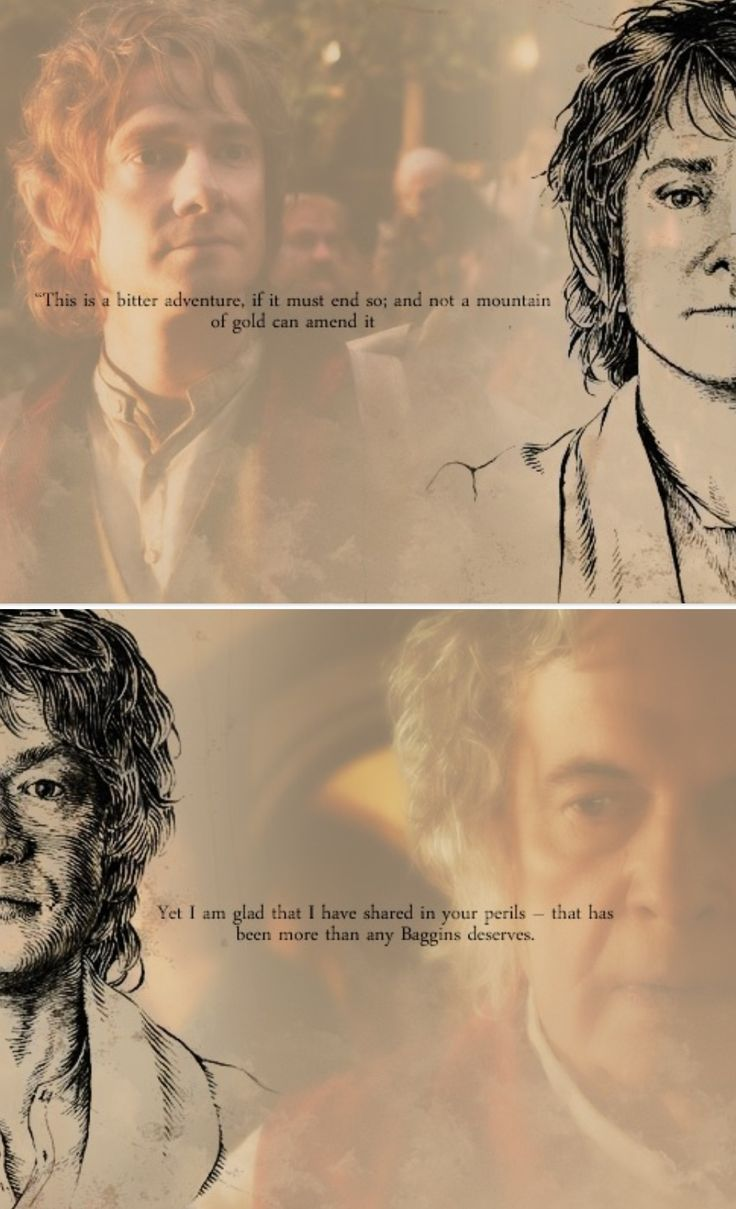 Bilbo Baggins clipart wood stick A dying best Again to