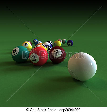 Billiard Ball clipart numbered Stock balls all numbered numbered