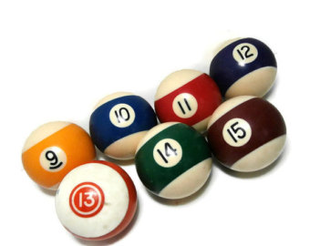 Billiard Ball clipart numbered Thru and Retro Numbered Numbers