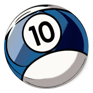 Billiard Ball clipart numbered Supplies Classic Billiards Round 10