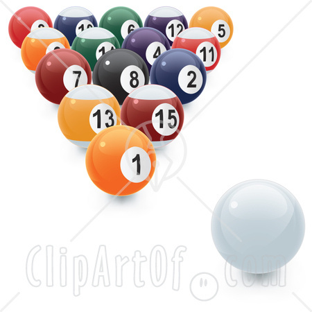 Billiard Ball clipart numbered 8 Ball Numbered Image Rack