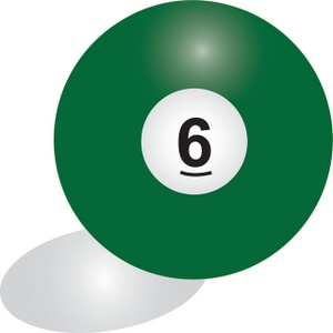 Billiard Ball clipart color number Image 6 solid 6 color