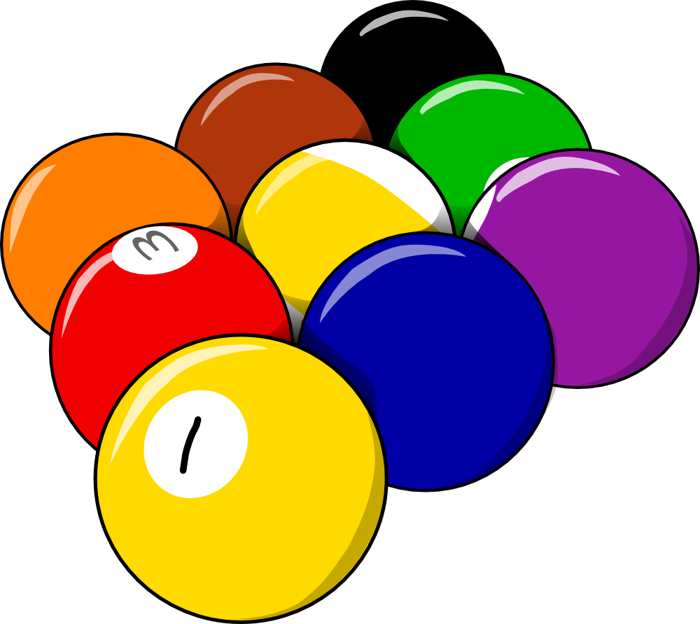Ball clipart beach ball Clipart billiards Pool Billiards Free
