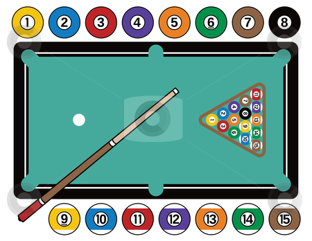 Billiard Ball clipart color number Equipment Table and and Billliards