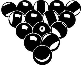 Billiard Ball clipart rack EPS #1 Eight Etsy Sports