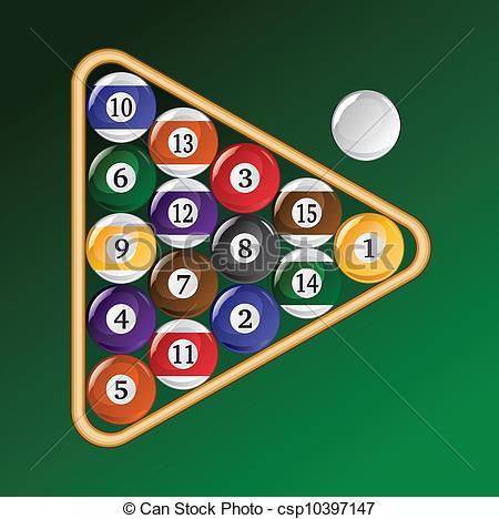Billiard Ball clipart rack A csp10397147 EPS  Eight