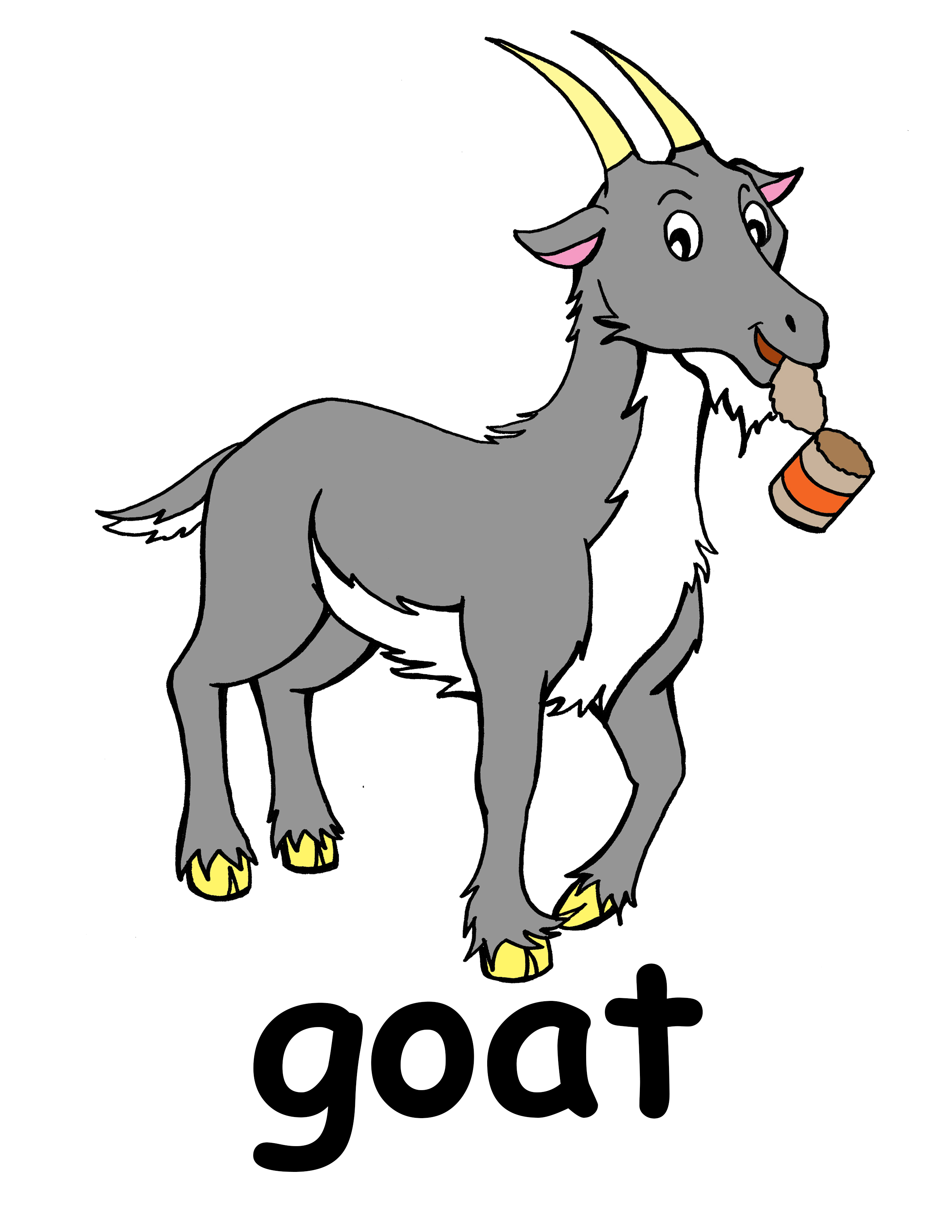 Mountain Goat clipart baby goat #3