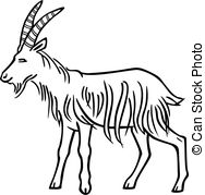 Drawn goat eye Stock Illustrations goat and