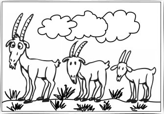Billy Goat clipart colouring Clip pages Art coloring Free