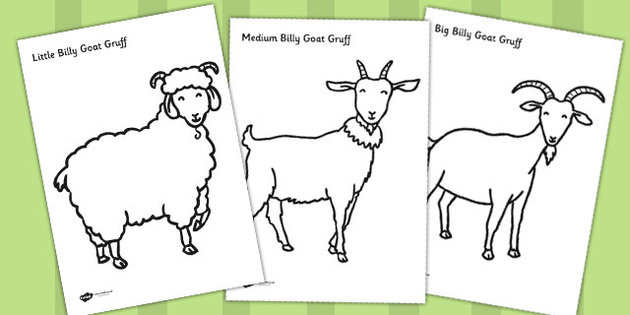Billy Goat clipart colouring Billy Billy Sheets Three The