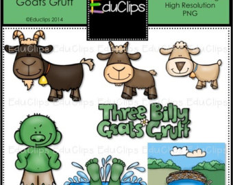 Billy Goat clipart three Clip Goats Billy goats Etsy