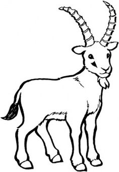 Billy Goat clipart line drawing Gruff Free drawings Goat /
