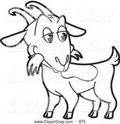 Billy Goat clipart grey Clip and a Goat Vector