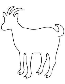 Billy Goat clipart stencil Made Billy Ply 4 Made