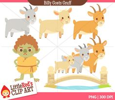 Billy Goat clipart three Clip Gruff Billy and Goats