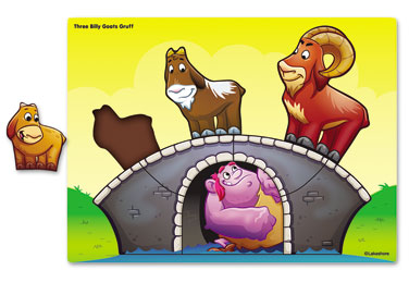 Billy Goat clipart three Puzzle Billy goats Goats gruff