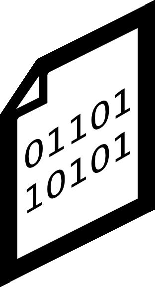 Binary clipart File Icon Download Clker com
