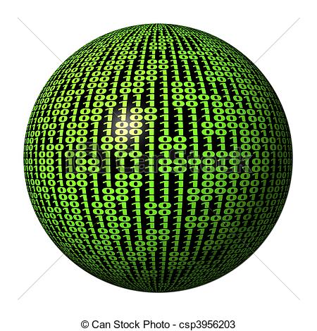Binary clipart network Sphere code csp3956203 Binary